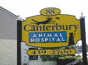 Canterbury Animal Hospital Sign resized to 300 pixels wide